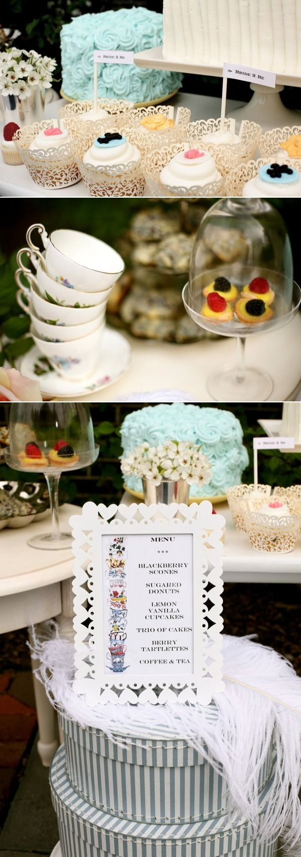 bridal shower teparty decorations%0A Tea Party Bridal Shower by The Hudson Cakery