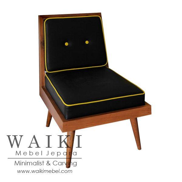 Froggy Living Chair - Model kursi tamu retro 1950. Waiki Mebel produsen furniture kursi retro scandinavia vintage Jepara teak living chair at factory price.