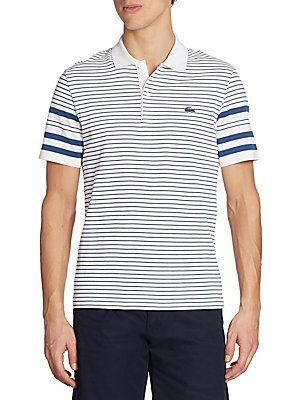 57a836c0eecf Lacoste Striped Cotton Polo Lacoste Men