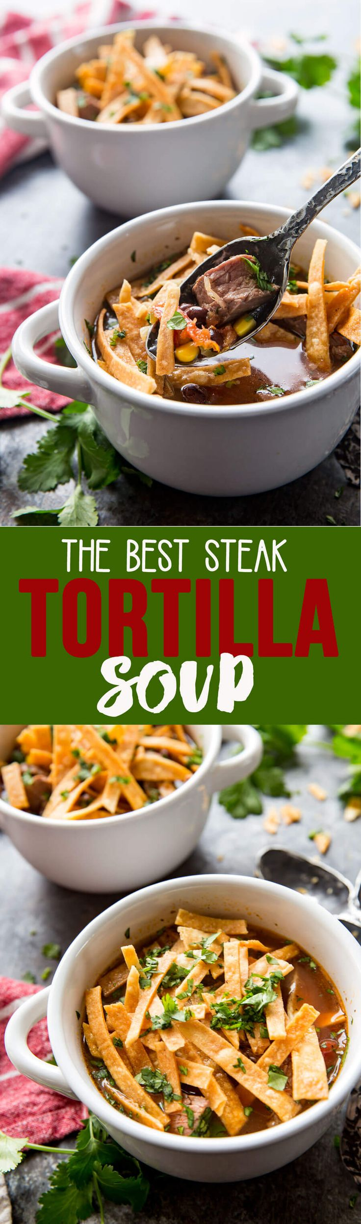 #ad Steak Tortilla Soup is the best! This broth is super flavorful,and the soup ridiculously easy to make! Yum! #CarpeDinner #PEPCID @PEPCID