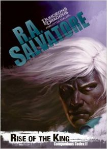 (SF SalR) Rise of the King by R. A. Salvatore; In the second book of the Companions Codex the orcs of Many Arrows decide to take advantage of the chaos wrought by the Sundering to reignite a blood feud first brought to life in the phenomenal best seller The Thousand Orcs.
