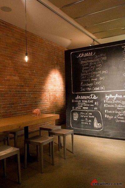 chalkboard and communal