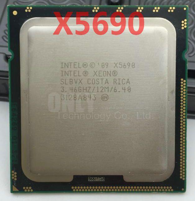 Livraison Gratuite Intel Xeon X5690 CPU processeur/3.46 GHz/LGA1366/12 MB L3 Cache/Six Core/serveur CPU processeur