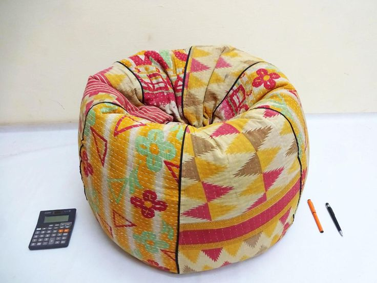 Handmade cotton quilt's cut peice Floral Bean Bag Chair
