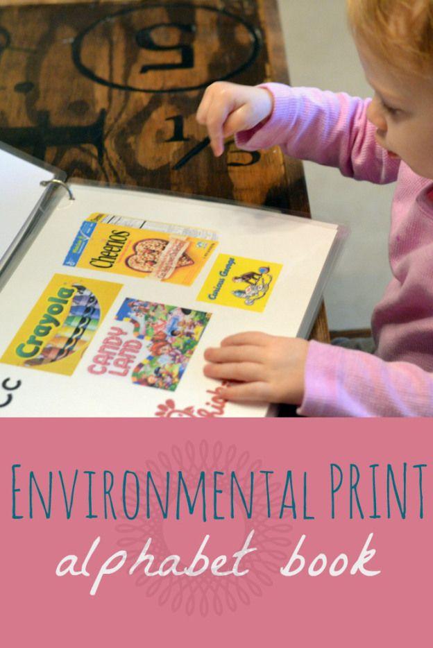 environmental print alphabet book free printable - Free Toddler Books