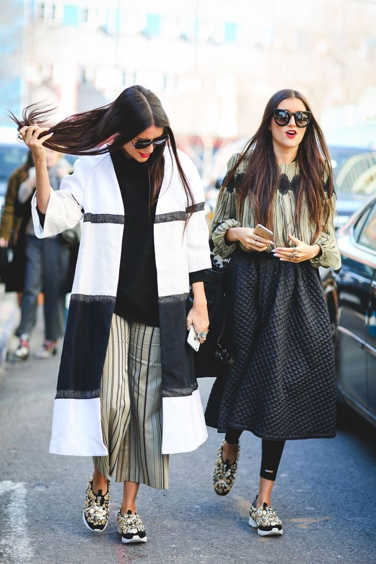 Lessons In Layering From The Streets Of New York City #refinery29 http://www.refinery29.uk/2016/02/103173/ny-fashion-week-fall-winter-2016-street-style-pictures#slide-64 There's nothing better than some cold-weather #twinning....