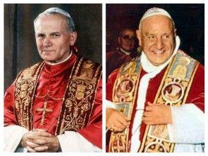 A canonização de João XXIII e João Paulo II