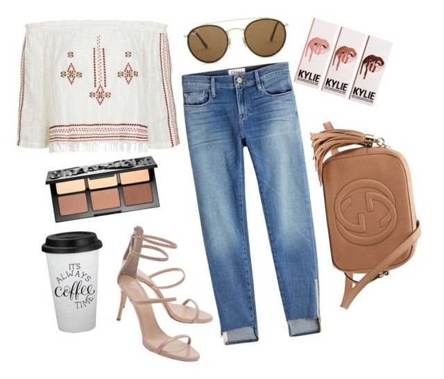 """Untitled #21"" by emiliamariaa on Polyvore featuring Topshop, Frame, Giuseppe Zanotti, Sephora Collection, Gucci and Ray-Ban"