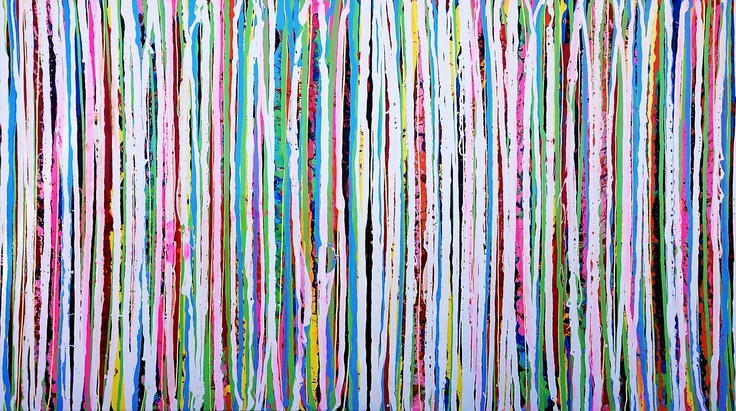 HNY I and II, 2013 by Thierry B. (diptych) Synthetic Polymer Paint On Linen  137 x 122 cm x 2 panels -SOLD