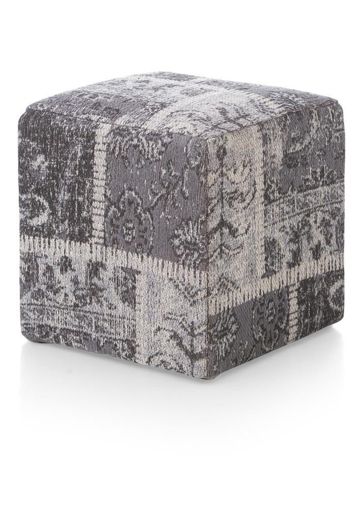 poef Royal 40 x 40 cm - katoen patchwork van Youniq decorations koop je bij deleukstemeubels.nl. Snel leverbaar!