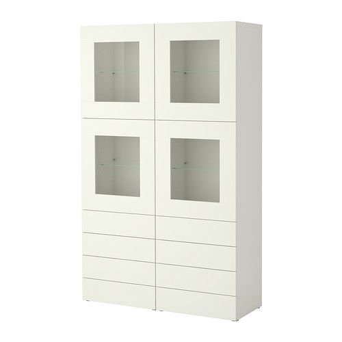 IKEA - BESTÅ, Storage combination w doors/drawers, Vara white,