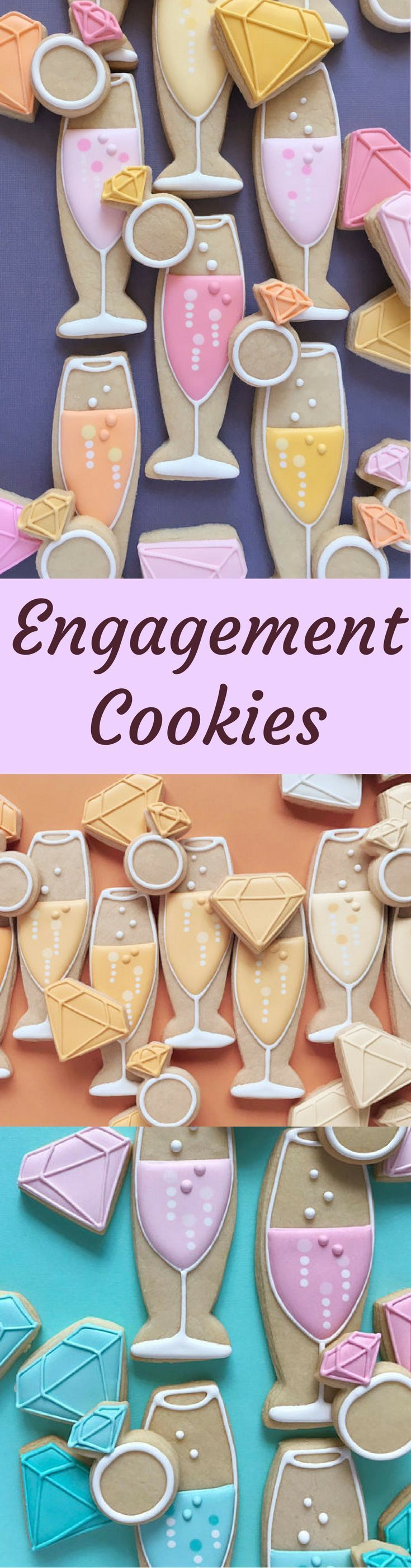Engagement Mix Cookies!! Bridal Shower Food Favor Ideas, Engagement Party Ideas, Bachelorette Party Ideas, Lingerie Shower Ideas, Wedding Cookies, Engagement Party Decor, Wedding Decor, Wedding Reception Decor, Champagne Flute Diamond Ring Embellished Cookies Bridesmaid Bridal Party Maid of Honor Gift Ideas #affiliatelink