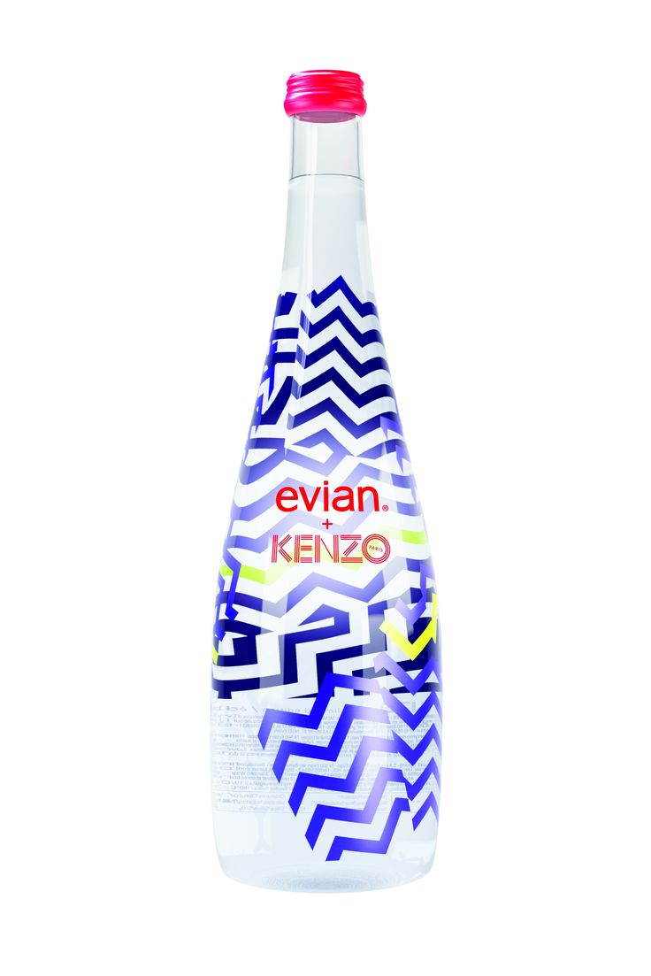 Kenzo ontwerpt waterfles voor Evian. Evian and Kenzo team up to create limited edition packaging PD