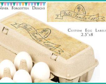 2.5 x 8 huevo cartón etiquetas modificado para por TheStudioByNFD