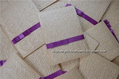 Handmade Wedding Invitations for Camelia