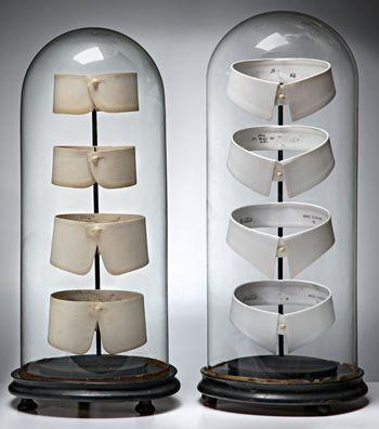 Great way to display vintage collars