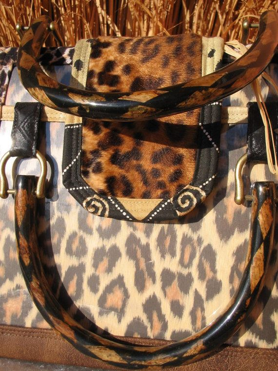 EUR260 - LEOPARD Elegance PURSE Artist HANDBAG  Leo handmade by TALLhappyCOLORS.Etsy.com
