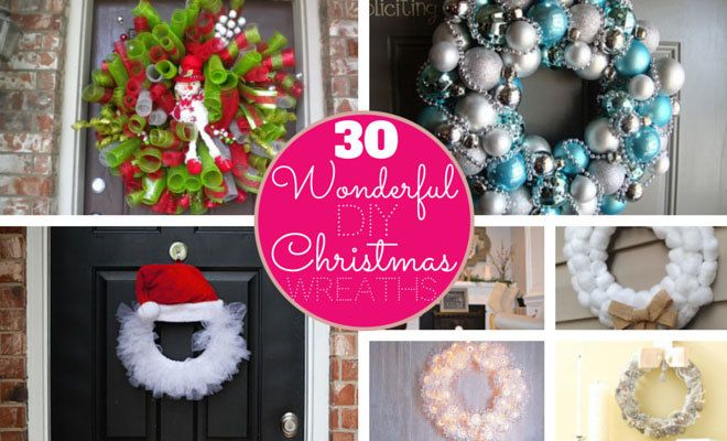 30 Wonderful DIY Christmas Wreaths | StayGlam