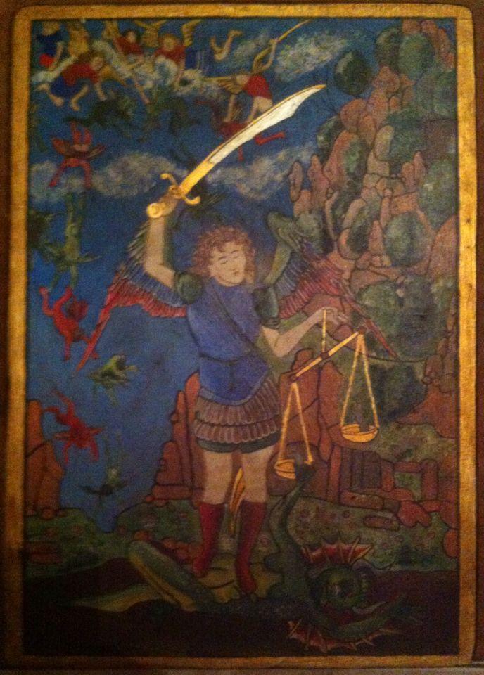 San Miguel Arcángel. Acrílico sobre madera. 33x23