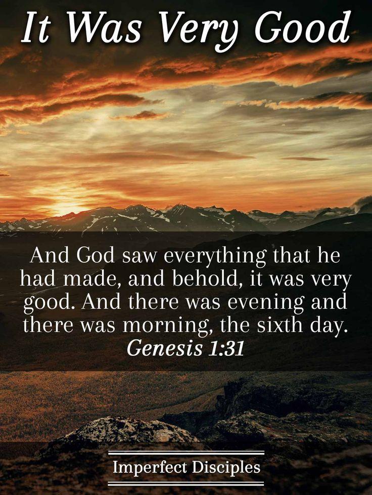 It was Very Good - Genesis 1:31 Scripture Memory Verse Song