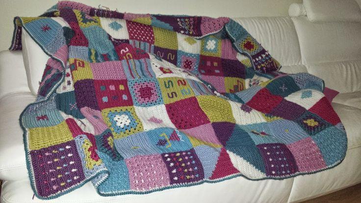 Vintage and ganchillo on pinterest - Colchas de crochet paso a paso ...