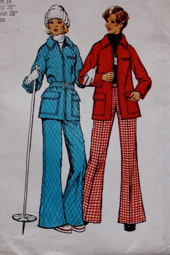 1970s Ski Bunny Quilted Ski Jacket Coat by BluetreeSewingStudio, $10.00