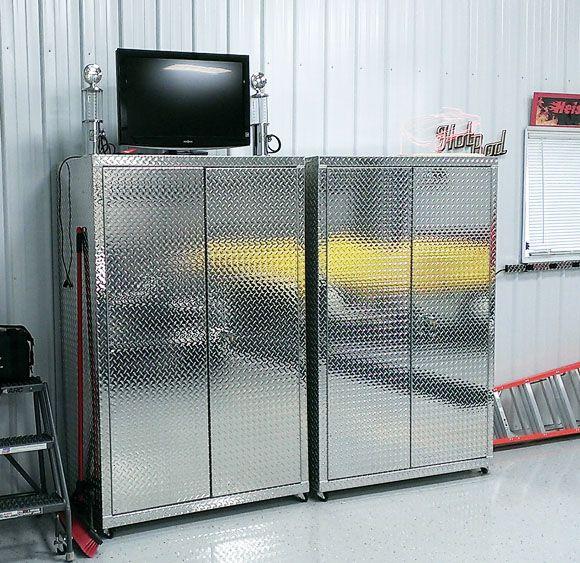 Superior Pair Of Diamond Plate Storage Lockers | Diamond Plate Garage Cabinets |  Pinterest | Plate Storage, Lockers And Cabinet Price