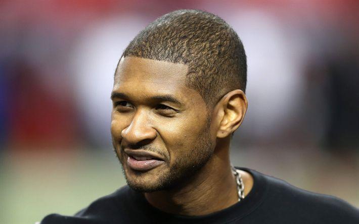 Download wallpapers Usher, American singer, face, 4k, smile, portrait, Usher Raymond