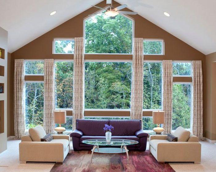 large window curtains on pinterest large window treatments big