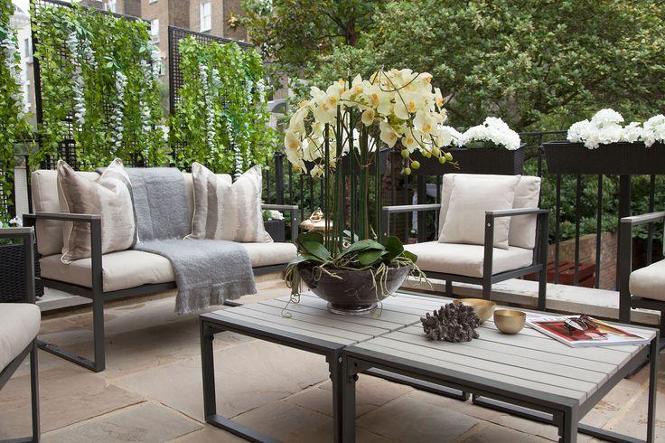 Terrace overlooking garden | JHR Interiors