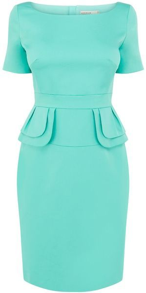 KAREN MILLEN Colourful Peplum Dress - Lyst