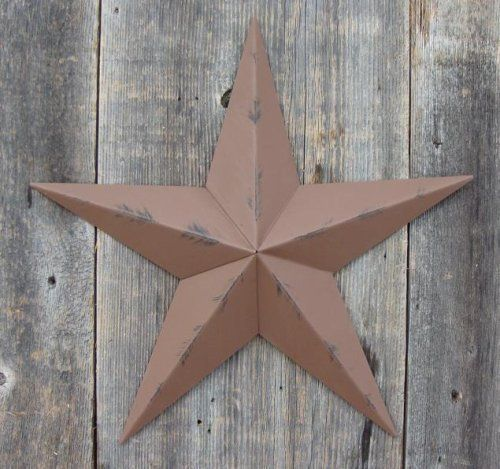 Heavy duty metal star 53 painted rustic brown these for Country star decorations home