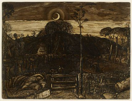 Late Twilight by Samuel Palmer. 1825. Based out of Shoreham.