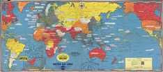 Rare Map for Sale: 1944 Turner World Map During World War II at Geographicus Rare Antique Maps