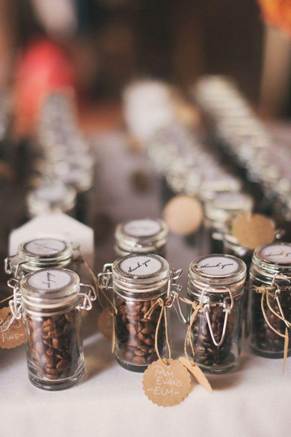 Coffee Themed Wedding Ideas, coffee bottle favors