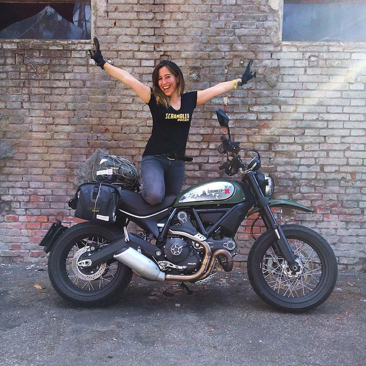 """@scramblerducati su Instagram: """"{ August adventures } @aliciasornosa is ready…"""