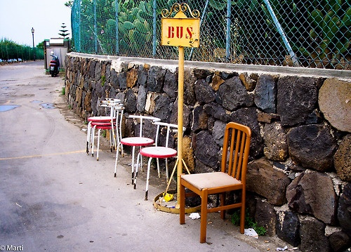 mytravelmind:  Bus stop in Ustica, Sicily
