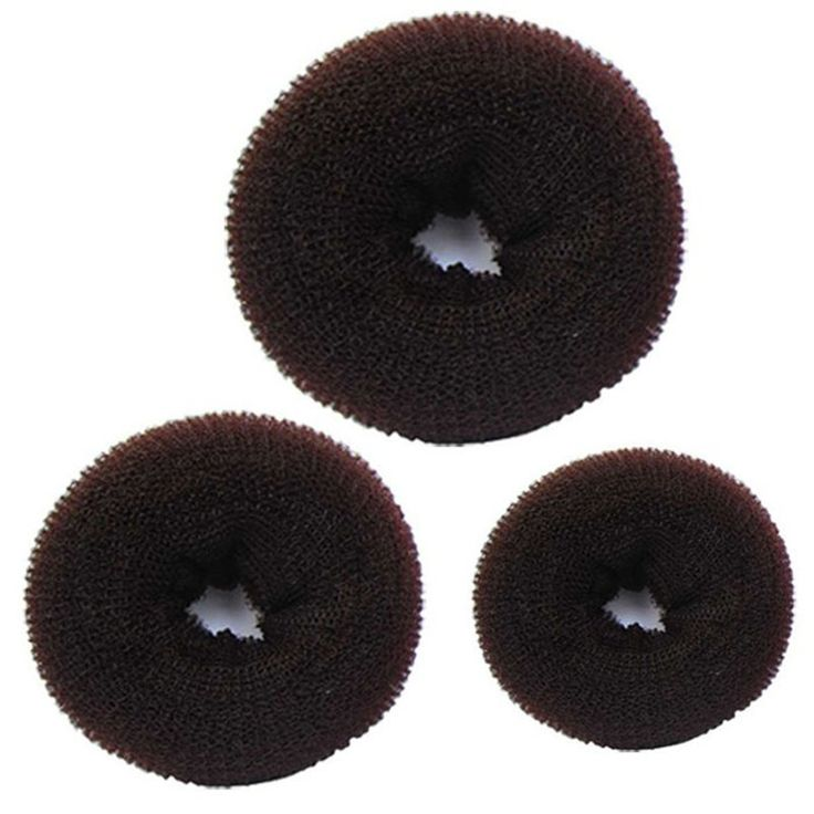 Stylish 3 Pcs Sponge Women Hair Bun Ring Donut Shaper Hair Styler Maker for Girl 3 Sizes Elastic Hairbands