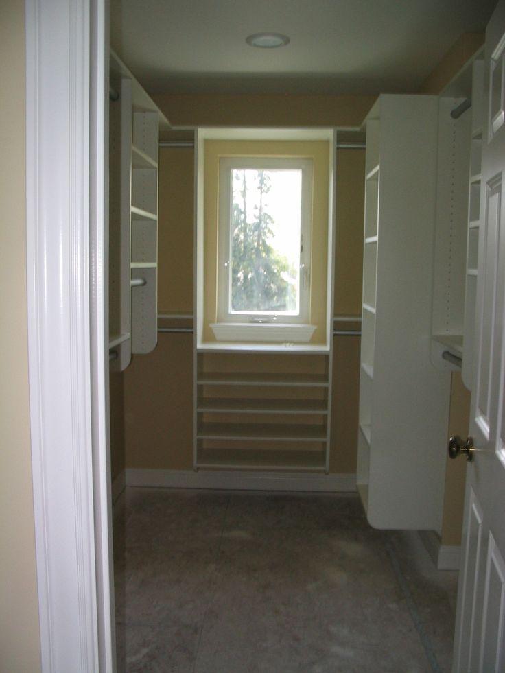 Walk in closet window storage idea bathroom remodel