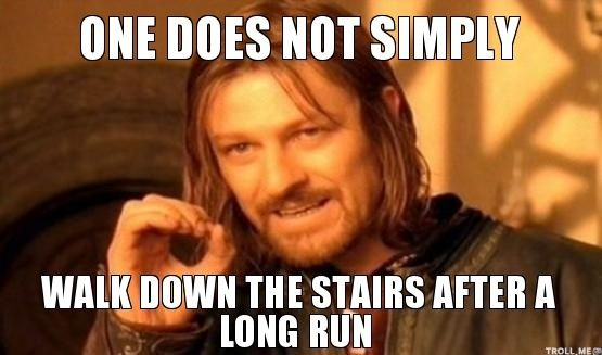 You Know You Run Cross Country When...you can't walk down the stairs