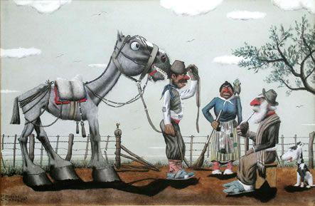 Con su permiso, don by F. Molina Campos