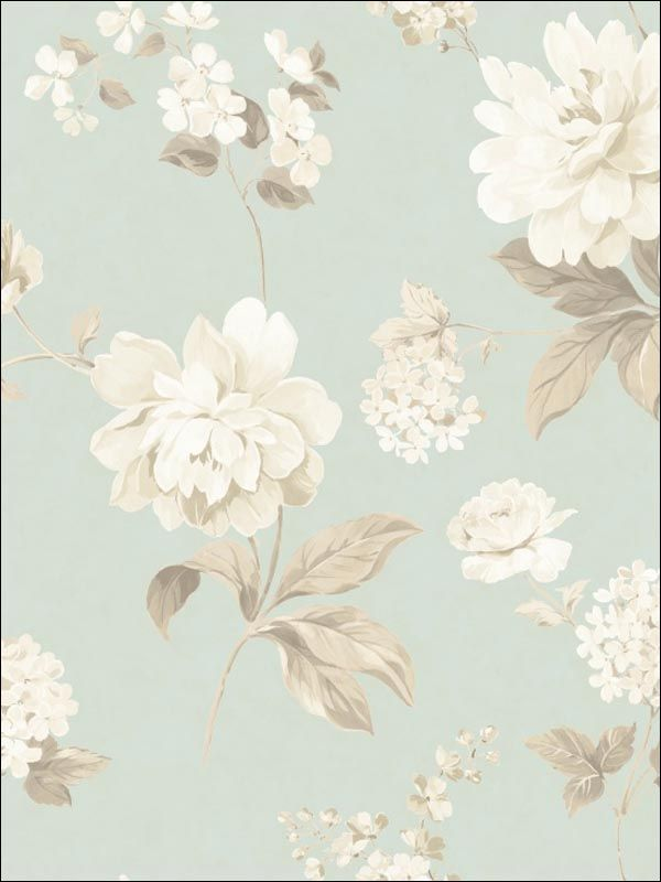 White floral Wallpaper