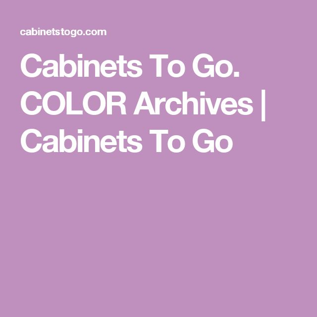 Cabinets To Go. COLOR Archives | Cabinets To Go