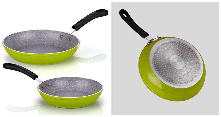 "Nonstick Skillet Set 2 Pcs Frying Saute Pans Cookware Induction Oven Safe 8"" 10"" #NonStickFryPans"