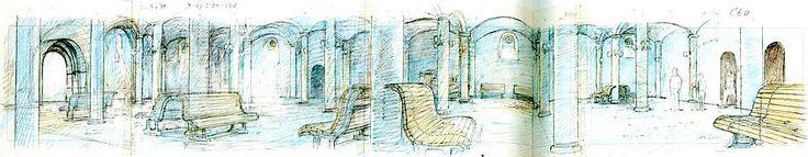 Film: Spirited Away (千と千尋の神隠し) ===== Layout Design - Scene: Interior Of The Tower ===== Hayao Miyazaki