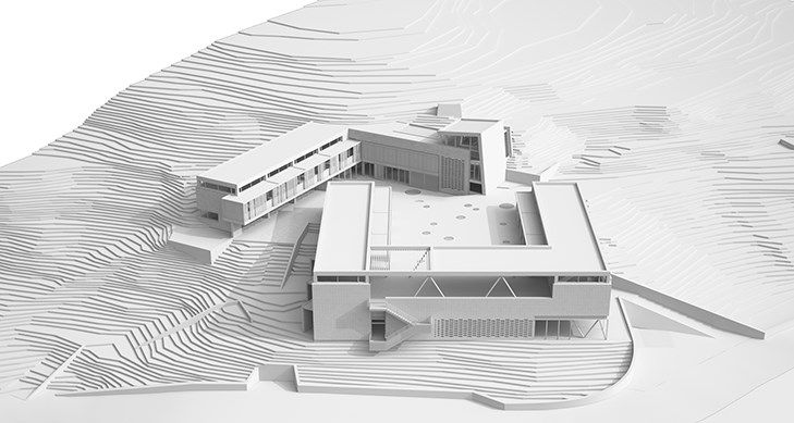 ARCHISEARCH.GR - PANHELLENIC ARCHITECTURAL CONCEPT DESIGN COMPETITION / AGIOS PAVLOS 1ST ELEMENTARY SCHOOL WITH GYMNASIUM / COMMENDATION FOR A. VOUGIA, G. MOUTSATSOS, T. ISSAIAS & P. ISSAIAS