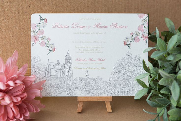 Magnificent wedding invitation,with a romantic design as background