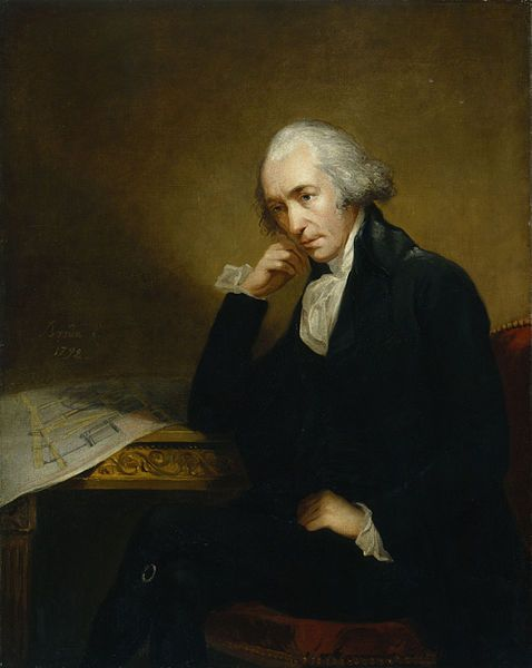 "James Watt, FRS, FRSE (1736–1819) was a Scottish inventor and mechanical engineer whose improvements to the Newcomen steam engine were fundamental to the changes brought by the Industrial Revolution in both his native Great Britain and the rest of the world.  Watt has been described as one of the most influential figures in human history.  He developed the concept of horsepower and the SI unit of power, the ""watt,"" was named after him.James Of Arci, Industrial Revolutions, Change Brought, Great Britain, James Watts, Scottish Inventors, Steam Engineering, Found Fathers, Mechanics Engineering"