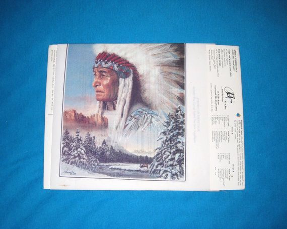 The Great Spirit Indian No Sew Applique / 7 3/4 by 10 by CookieGrandma60, $11.50