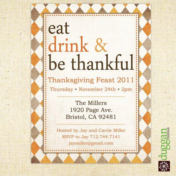 Thanksgiving Invite...LOVE